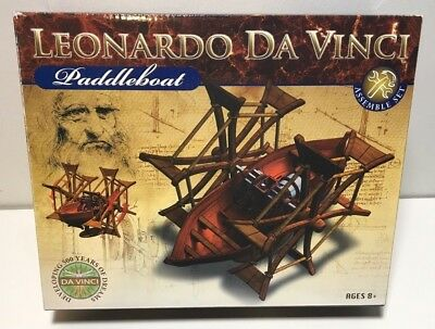 Leonardo Da Vinci Paddleboat Model kit by Edu Toys! NEW and unused!
