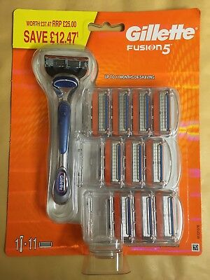 2 X Gillette Fusion 5 Razor And 11 Blades New & Sealed