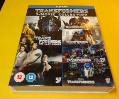 Transformers 5 Movie Collection (Blu-ray Boxset)w/Slipcover-NEW-Free Shipping