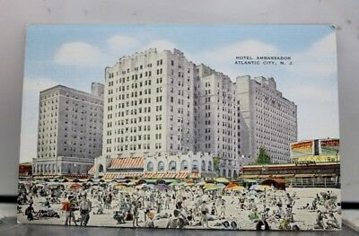 New Jersey NJ Atlantic City Hotel Ambassador Postcard Old Vintage Card View Post