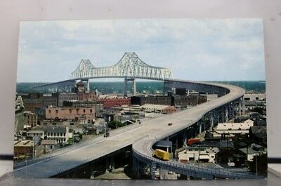 Louisiana LA Bridge New Orleans Postcard Old Vintage Card View Standard Souvenir