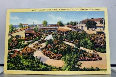 California CA Ramona's Marriage Place old Town San Diego Postcard Old Vintage PC