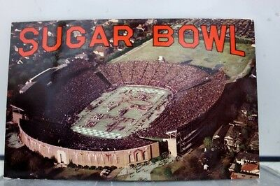 Louisiana LA Sugar Bowl Tulane Stadium New Orleans Postcard Old Vintage Card PC