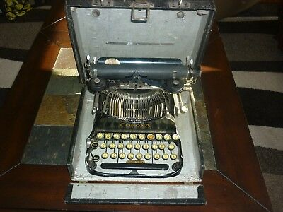 Vintage Folding Corona Portable Model 3 Typewriter Antique