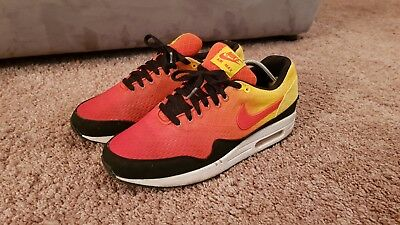 NIKE AIR MAX 90 ID, Gr. 44, all red, getragen. EUR 25,50