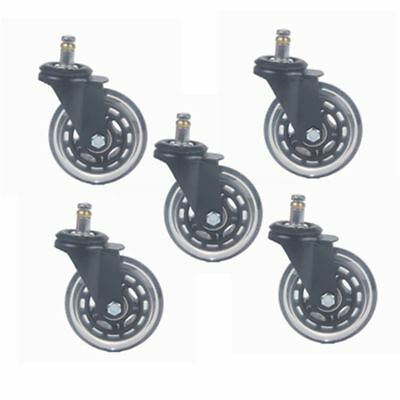 5Pc 3Office Chair Caster Wheel Steel Ball Bearings Protecting Floor Replacement