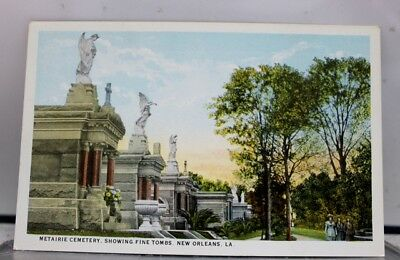 Louisiana LA Metairie Cemetery New Orleans Postcard Old Vintage Card View Post