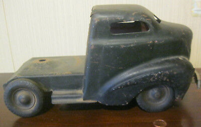 Antique 1930s Wyandotte Black Pressed Steel Bus Coast Truck Cab Wyandotte Tires
