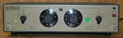 Krohn Hite 3100A Tuneable Band-Pass Filter 10hz-1MHz Tested GOOD