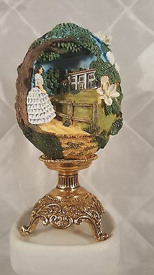 Franklin Mint Collector Egg Scarlett Of Tara with Stand