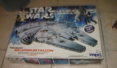 """1979 Mpc Star Wars Han Solo's Millenium Falcon Large 18"""" Model Kit In The Box"""