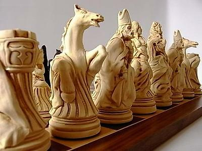 The amazing  Large vintage style set of louis XIV french/Versailles Chess pieces