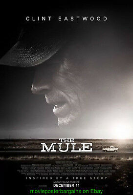 THE MULE MOVIE POSTER Original Theatrical Mint DS 27x40 CLINT EASTWOOD FiLM 2018
