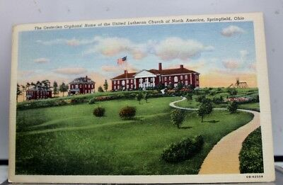 Ohio OH Orphans Home Lutheran Church Springfield Postcard Old Vintage Card View