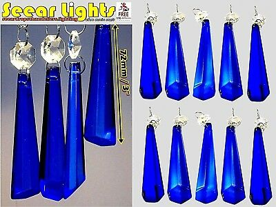 10 Chandelier Light Parts Glass Crystals Retro Icicle Beads Drops Prism Droplets