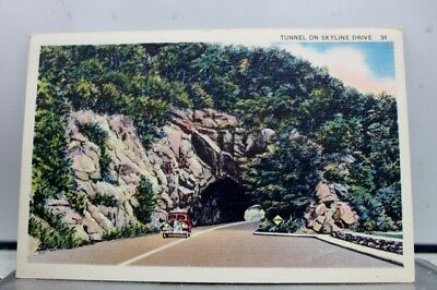 Scenic Tunnel Skyline Drive Postcard Old Vintage Card View Standard Souvenir PC