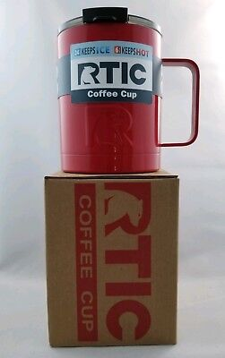 RTIC Coffee Cup-New-Red-stainless steel, double wall vacuum insulated