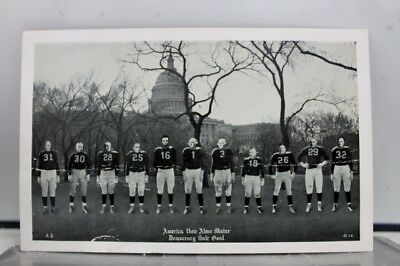 Scenic America Alma Mater Football Postcard Old Vintage Card View Standard Post