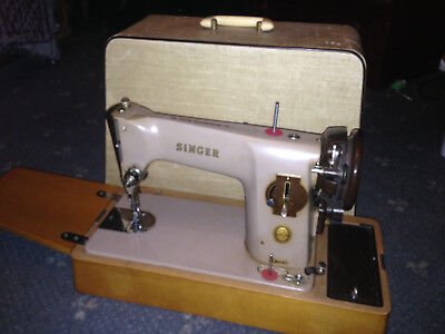 Semi-Industriai Singer 201K Electric Sewing machine - Pedal & Power Lead missing