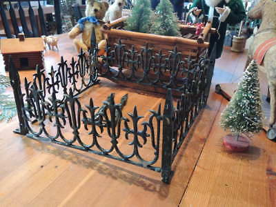 1800's Victorian Iron Fence AS IS for Feather Tree or Putz