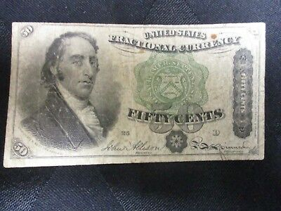 1863 50 cent Fractional Currency