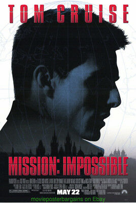 MISSION IMPOSSIBLE MOVIE POSTER DS 27x40 ORIGINAL TOM CRUISE RARE ADVANCE STYLE