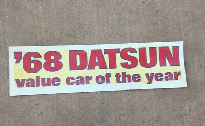 1968 Datsun 510 Value Car Of The Year Transfer / Decal