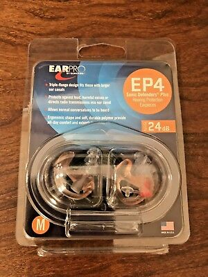 NEW Surefire EarPro Sonic Defenders EP4 PLUS COLOR CLEAR SIZE MEDIUM
