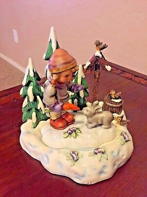 M I Hummel Peaceful Offering Hum 2065 with Friendship in Bloom Scape LE Goebel