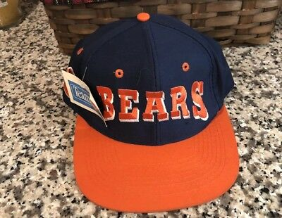 Vintage Chicago Bears Drew Pearson Twill NFL Football 90s Snapback Cap Hat  New e9cfc074c