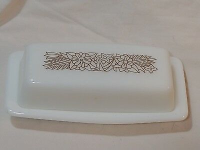 vintage Pyrex 72 B woodland brown butter dish w/ lid covered MCM corning corelle