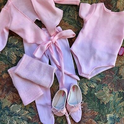 Gotz HANNAH BALLET OUTFIT Pink Leather Ballet Slippers LEOTARD Warm-Ups & Tights