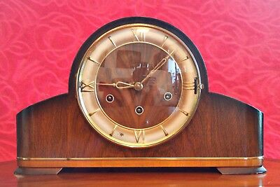 Vintage English 10-Day Mantel Clock with 3 Melodies Chimes