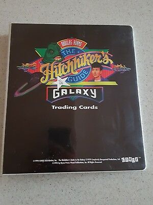 The hitchhikers guide to the galaxy album binder inserts trading cards complete