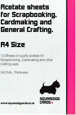 A4 Acetate - Pack of 10 Sheets 240mic
