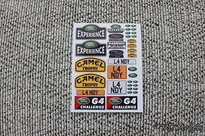 Decal Stickers for Small Gelande D90 1/18 scale RC4WD Land Rover Crawler