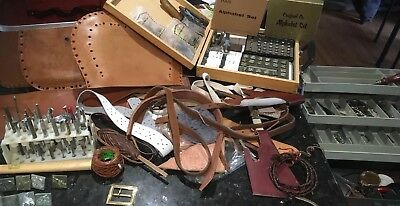 LEATHER CRAFT BULK CLEAN OUT !!, Incl. Craftool CO.  Stamp CUTTER Tool Kit