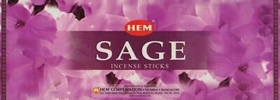 """Sage"" 200 Incense Sticks (25 Square Packets) HEM Brand Incense"