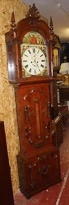 1850's  Mahogany 8 x day Grandfather Clock by N  Stewart from Scotland