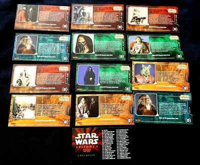 13 Star Wars Episode 1 Widevision Trading Cards - Ex Dealers Stock