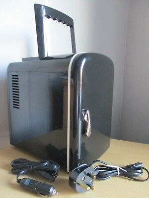 4 Lit Argos Mk9 2Nw,ly-0204B-Ac/dc Black Mini Fridge,used But Fully Working.