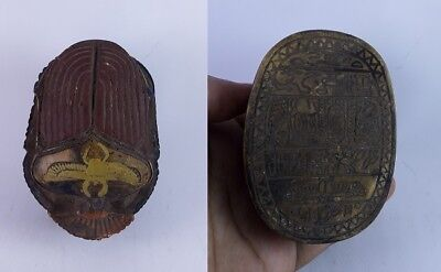 RARE ANCIENT EGYPTIAN ANTIQUE SCARAB Carved Stone 1456-1256 BC