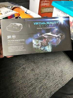Virtual reality  3D   plastic  headset  scope for smartphones