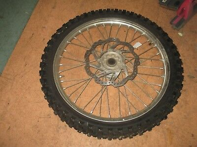 honda crf 250 450 front wheel with new star cross tyre 2014 all  in a1 cond