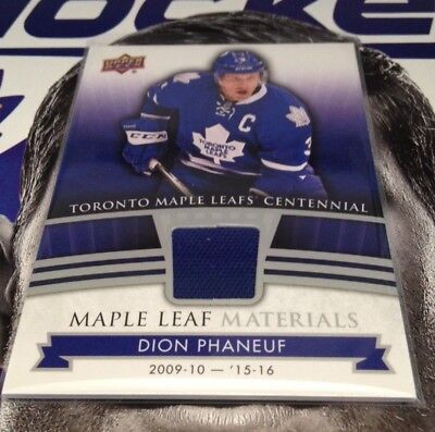 2017-18 Ud Toronto Maple Leafs Centennial Maple Leaf Materials U Pick From List