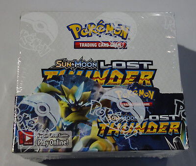 Pokemon Lost Thunder Sealed booster box #A