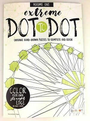 Extreme Dot to Dot Original Hand Drawn Puzzles Volume One Adult Activity Book