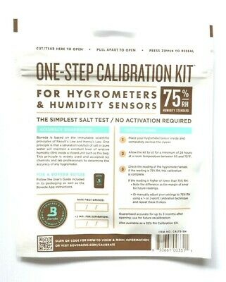(1) Boveda By Humidipak One Step Humidor Hygrometer Calibration Kit Packet 75%