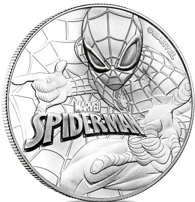 2017 SPIDERMAN Tuvalu Series - 1 OZ. 9999  Silver Proof - NO RESERVE