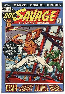 Doc Savage #1 VF+ 8.5 off-white pages  Marvel  1972  No Reserve